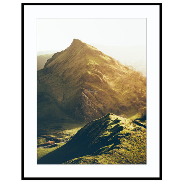 the dragons back Buxton Gift, Chrome Hill Print, Dragons Back Print, Framed Mountain Pr Print (Unframed)