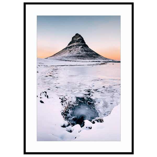 the frozen tower fine art photography, Iceland, Iceland Print, icelandic gift, Kirkjufe Print (Unframed)
