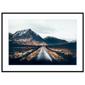 the road to glen etive Adventure Road Print, Best Sellers, Glen Etive Print, Glencoe Print, H Print (Unframed)