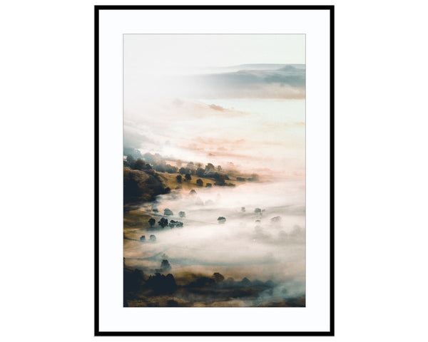 Valley MistPhotograph Print Landscape Photography Wall Art by Danscape
