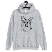 Load image into Gallery viewer, Corgi Ink Portrait Hoodie - GoodBarks