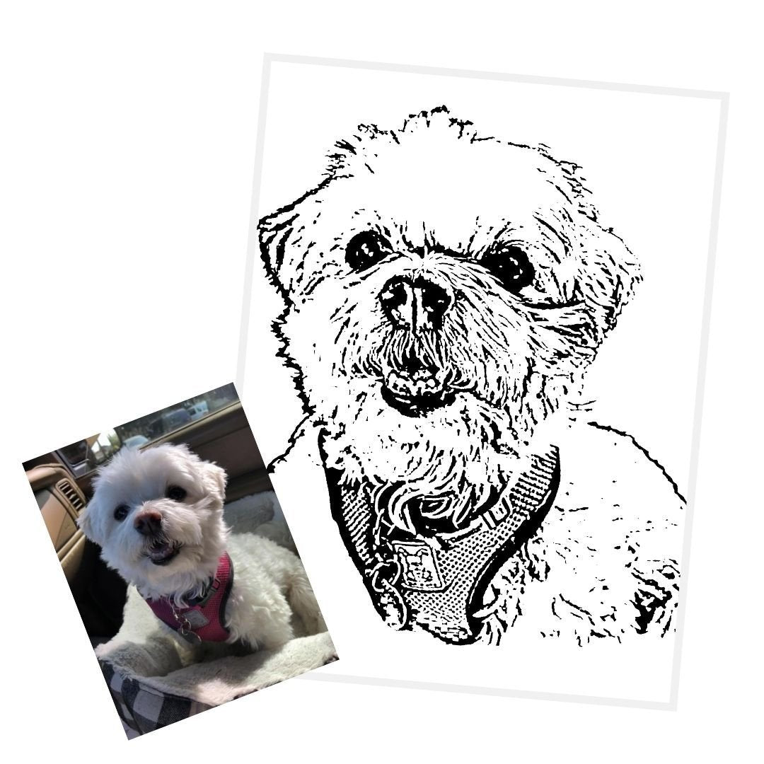 Custom Ink Portrait (Digital Download) - GoodBarks