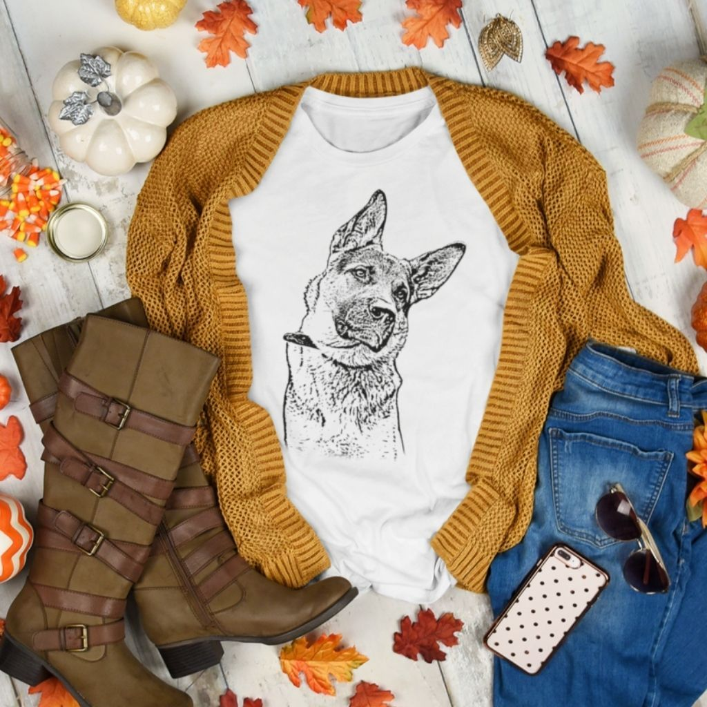 Custom Ink Portrait Dog Shirt - GoodBarks