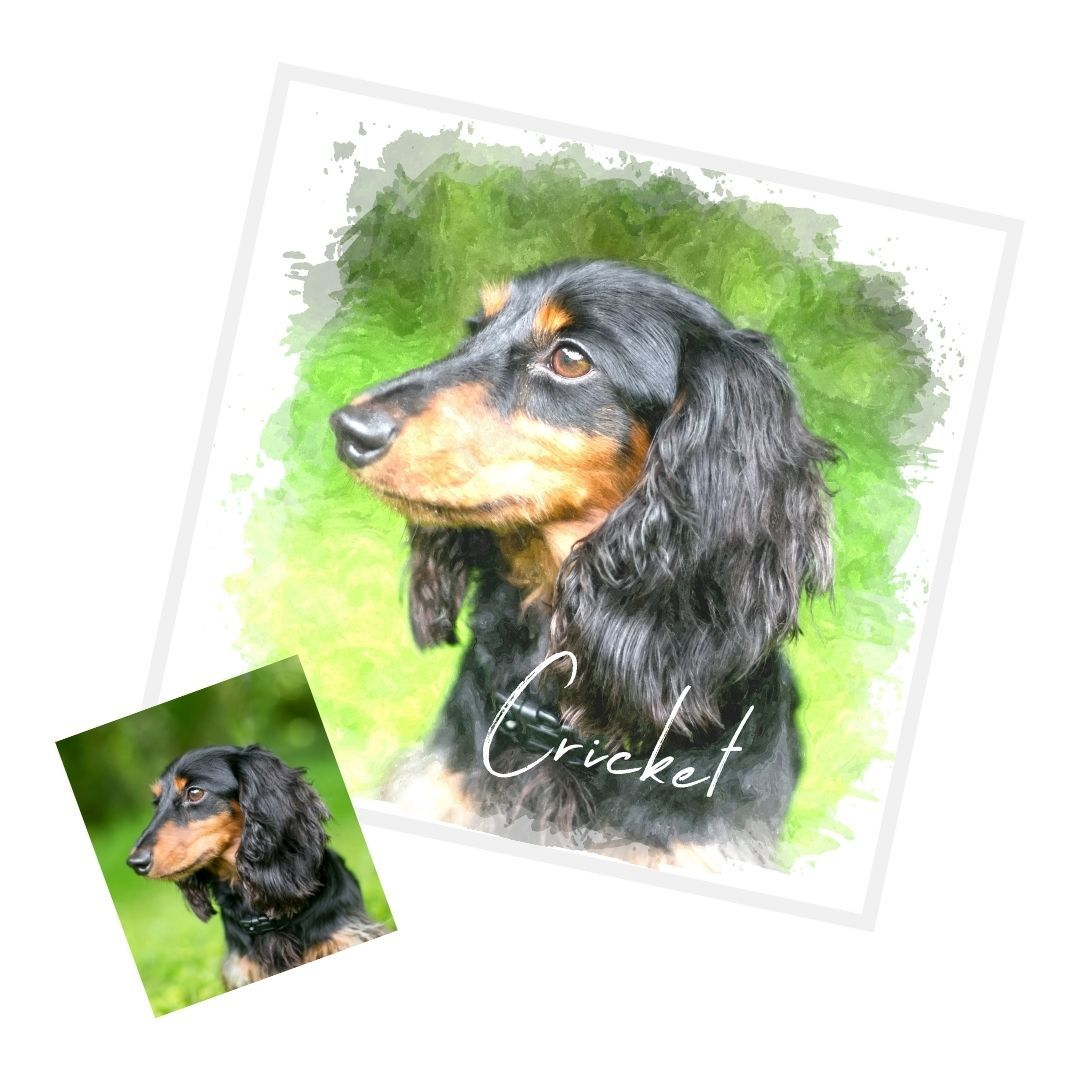 Custom WaterColor Portrait (Digital Download) - GoodBarks