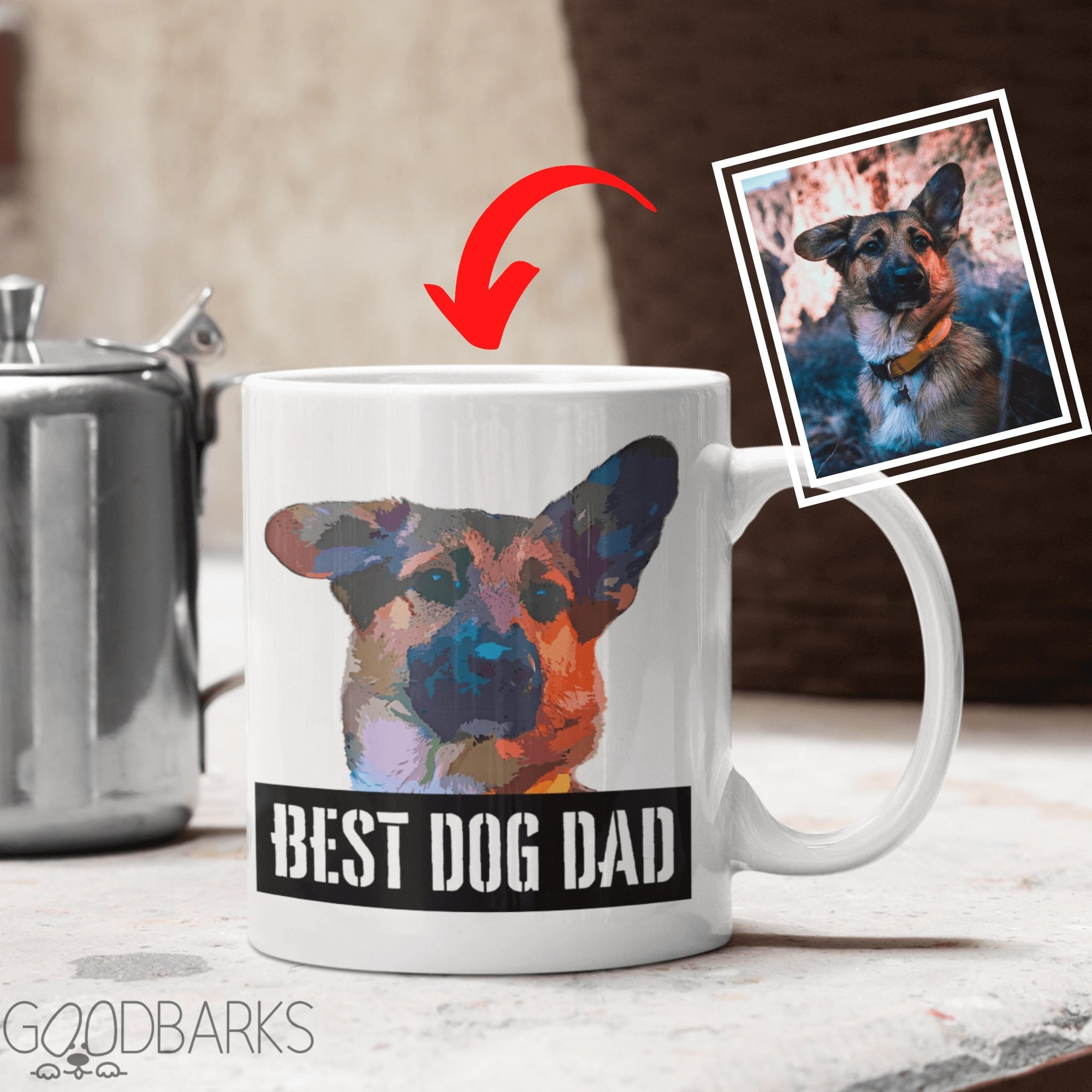 GoodBarks Best Dog Dad Mug - GoodBarks
