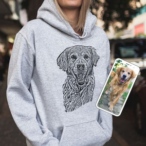 Personalized Ink Portrait Hoodie - GoodBarks