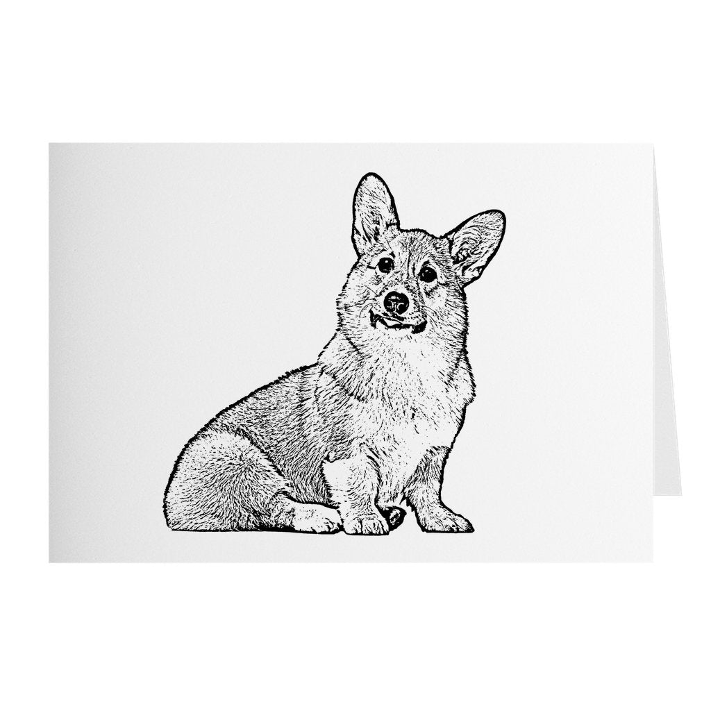 Personalized Ink Portrait Note Card - Set of 10 - GoodBarks