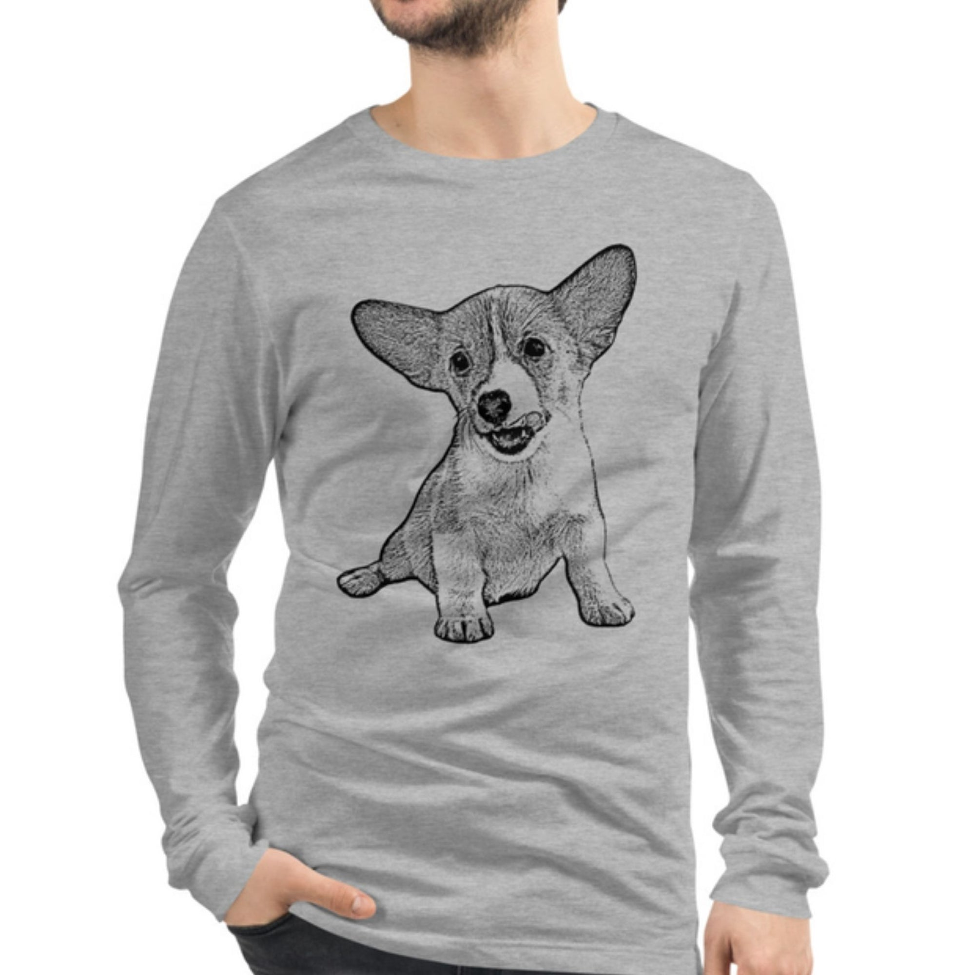 Personalized Ink Portrait Tee - Long Sleeve - GoodBarks