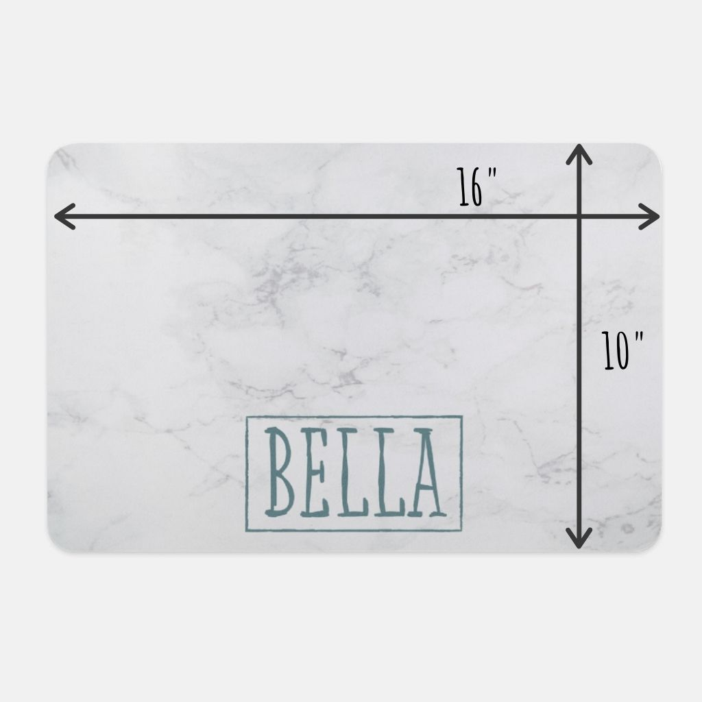 Personalized Pet Mat - Marble - GoodBarks