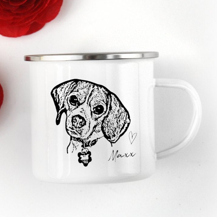 Pet Ink Portrait Camp Mug - GoodBarks