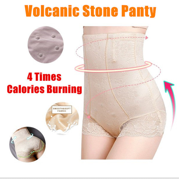 High Waist Shaping Underwear Volcanic Stone Panty 4 times Calories Burning Shorts