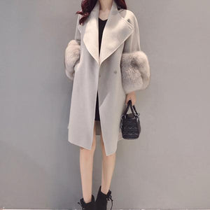 2018 Autumn And Winter New Fashion Loose Large Size Woolen Coat