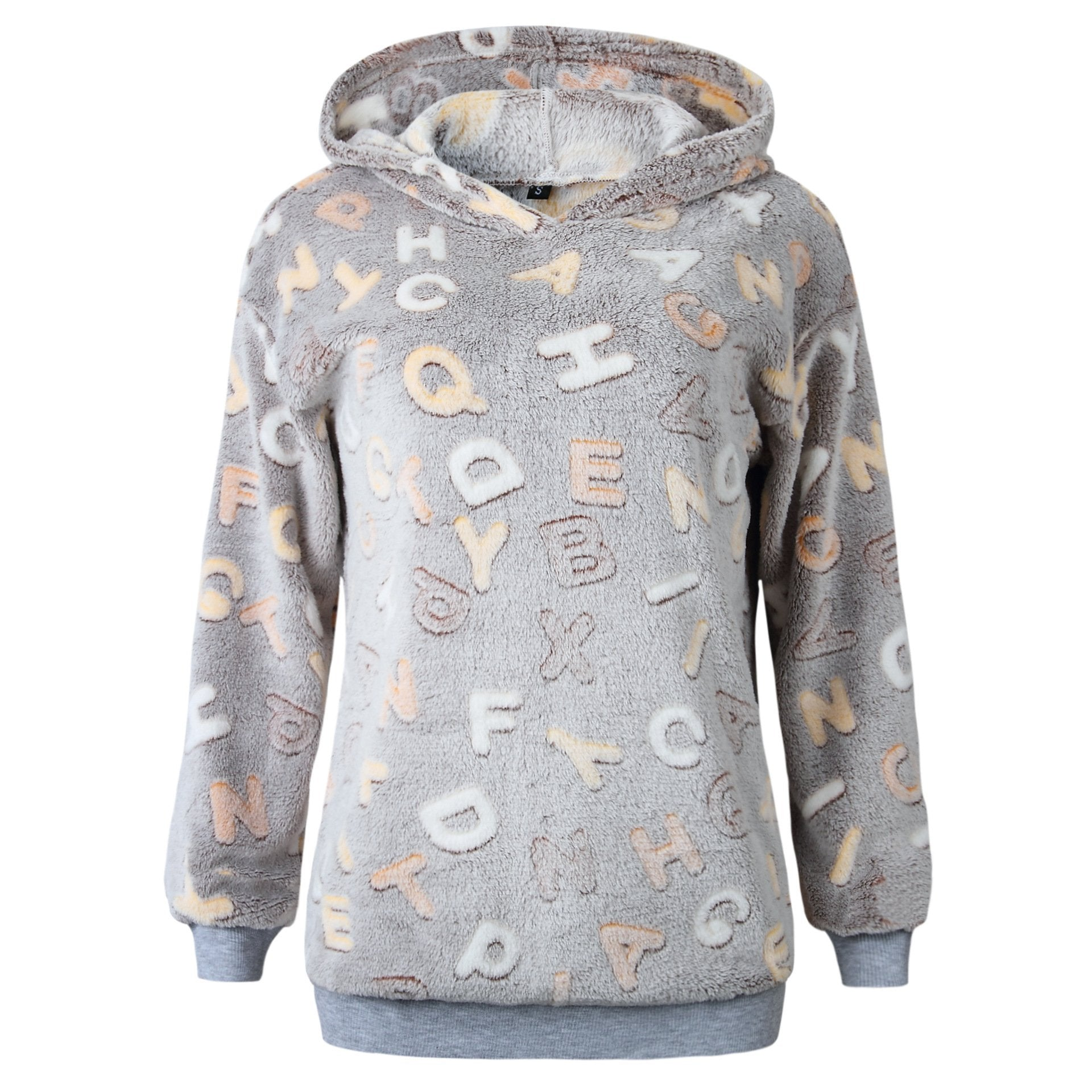 2018 Autumn And Winter Fashion Printed Letter Hoodie