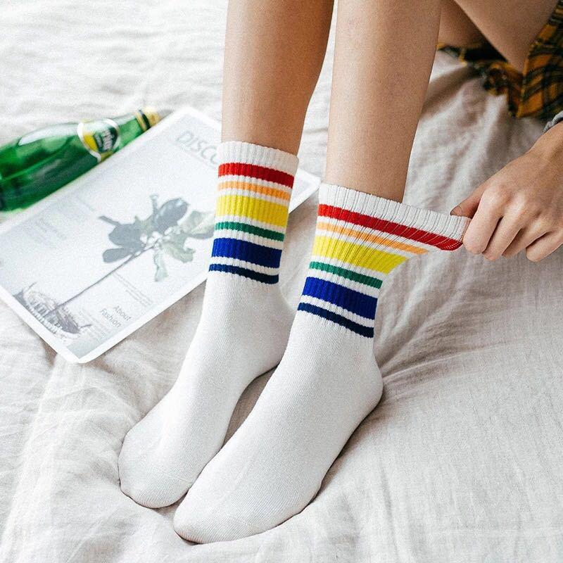 10 pairs New style rainbow socks (3 pattern available)