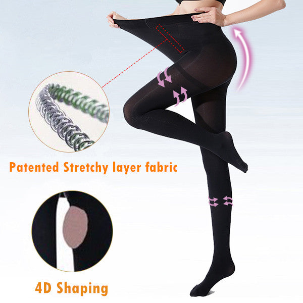 4D Shaping High-elastic Stovepipe Pantyhose