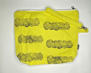 Yael & the bags - Lemon Skeins - Large Yellow bag