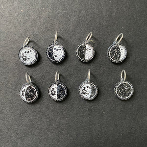Moon phase stitch marker set