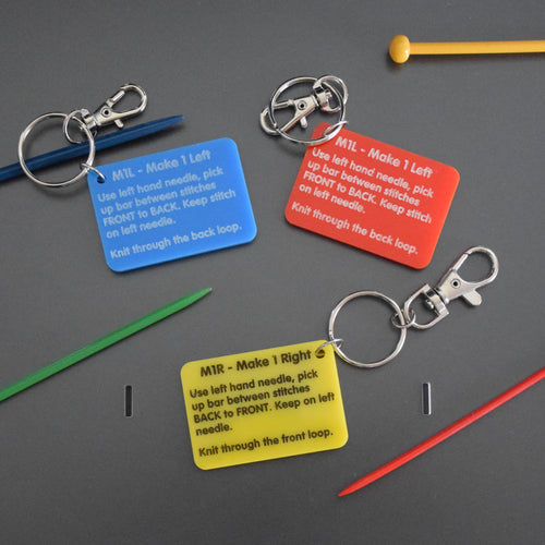 M1L/M1R reminder key ring