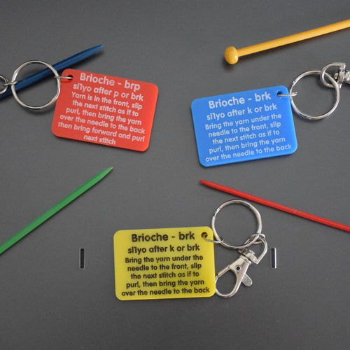 Brioche reminder key ring