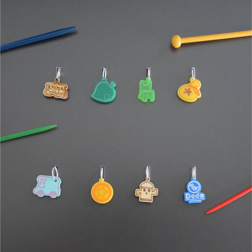 Animal Crossing stitch markers