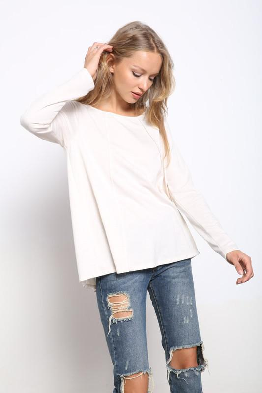 Oatmeal Loose Fit Top