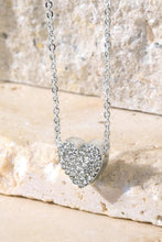 Load image into Gallery viewer, Pave Crystal Heart Charm Necklace