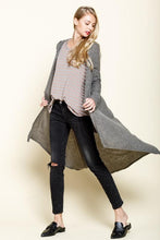 Load image into Gallery viewer, Smokey Olive Marled Rib Hoodie Cardigan