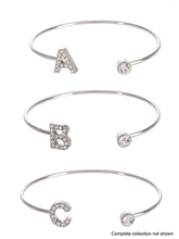 Load image into Gallery viewer, Rhinestone Initial Bracelet