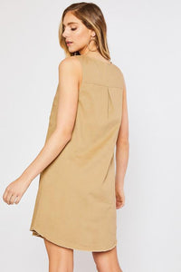 Scoop Neck Sleeveless Dress