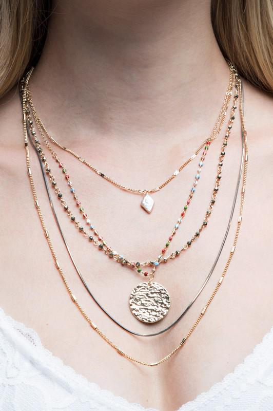 Multi-Layer Charm Necklace