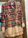Red/Olive/Cream Bleached Flannel