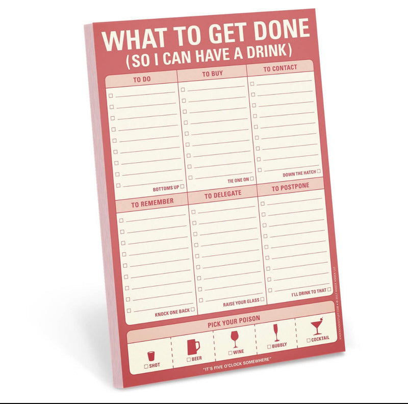 What To Get Done Pad