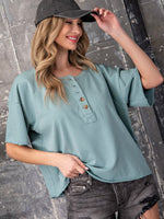 Mineral Washed Boxy Top