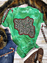 Load image into Gallery viewer, Santa Baby Green Tie Dye Tee