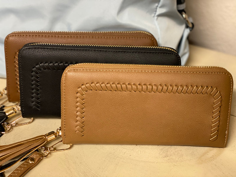 Whipstitch Zip Around Wallet