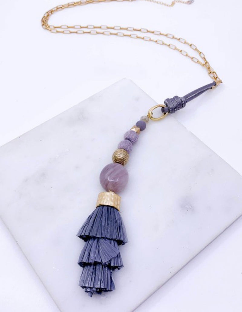 Raffia Tassel Necklace
