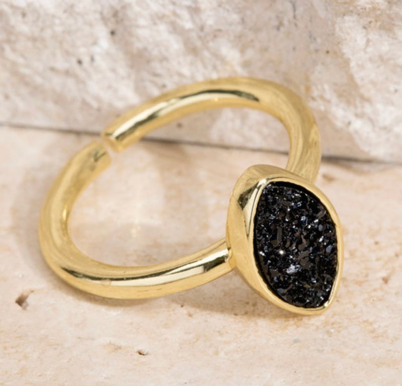 Druzy Adjustable Ring