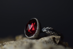 Garnet Fern Ring - Size 8