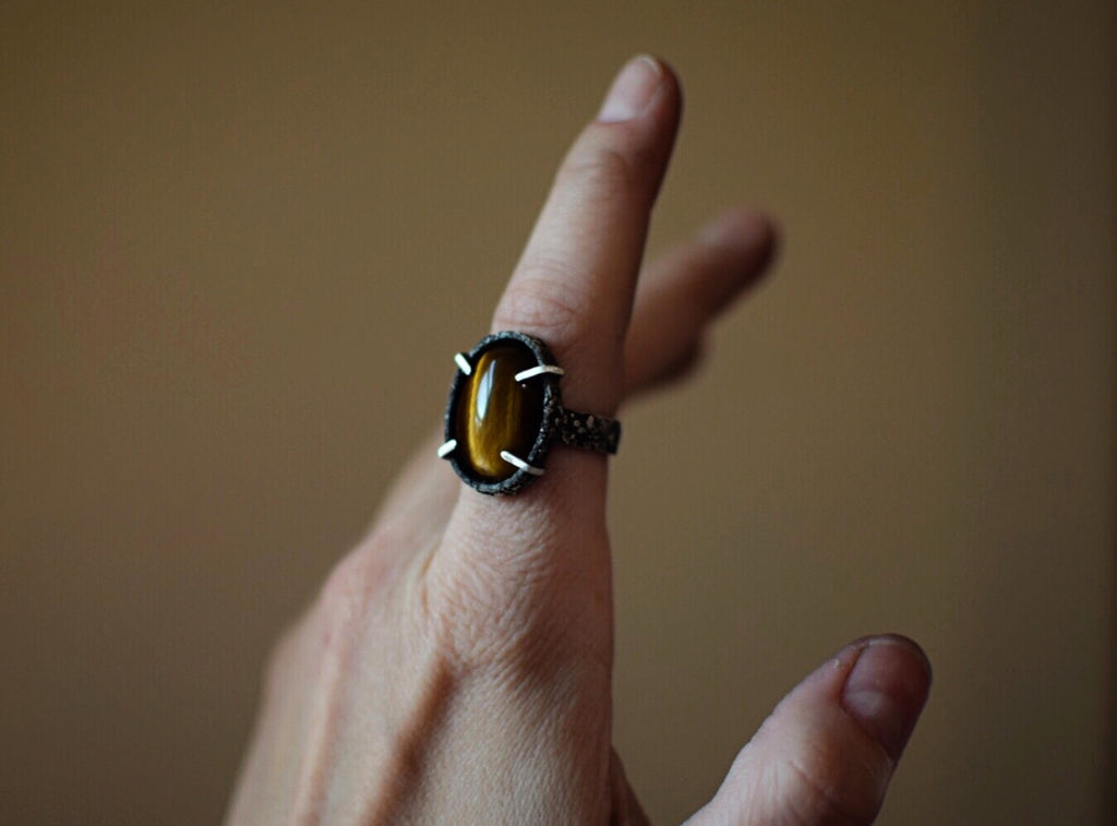 Prong Set Tiger Eye Ring