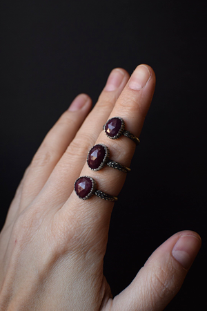 Ruby Fern Rings - Sizes 5.25, 8.25, 8.5