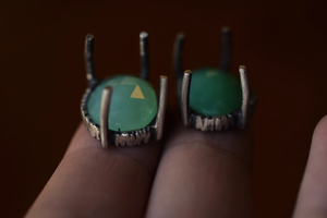 Chrysoprase Fern Ring - Choose Your Size