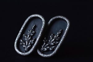 Oval Fern Shadowbox Earrings