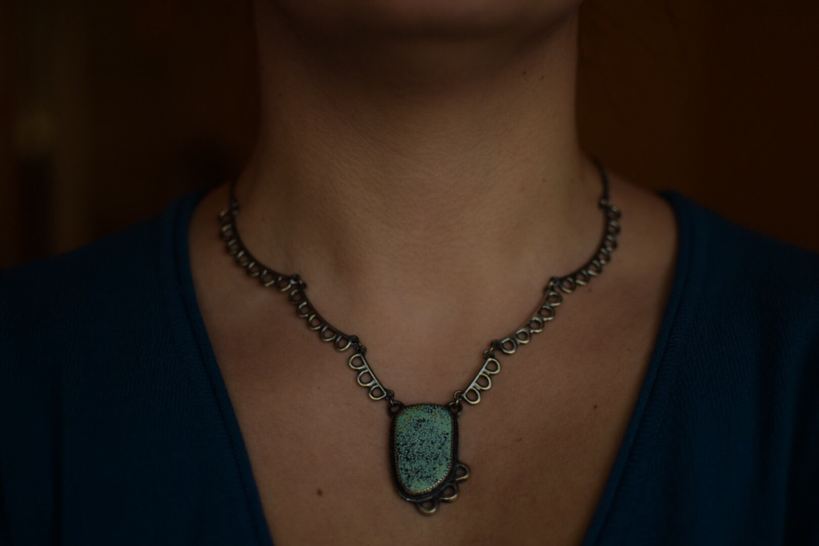 Number 8 Turquoise Overgrowth Statement Necklace