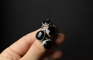 Obsidian Bark Fern Rings