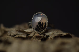 Dendritic Agate Fern Ring - 6.25