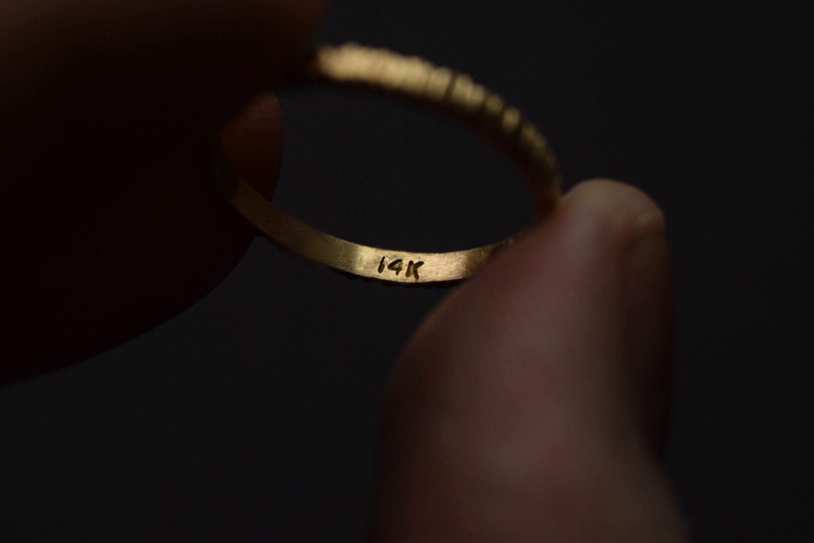 Weathered Gold Band