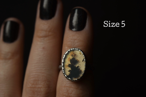 Dendritic Agate Fern Rings
