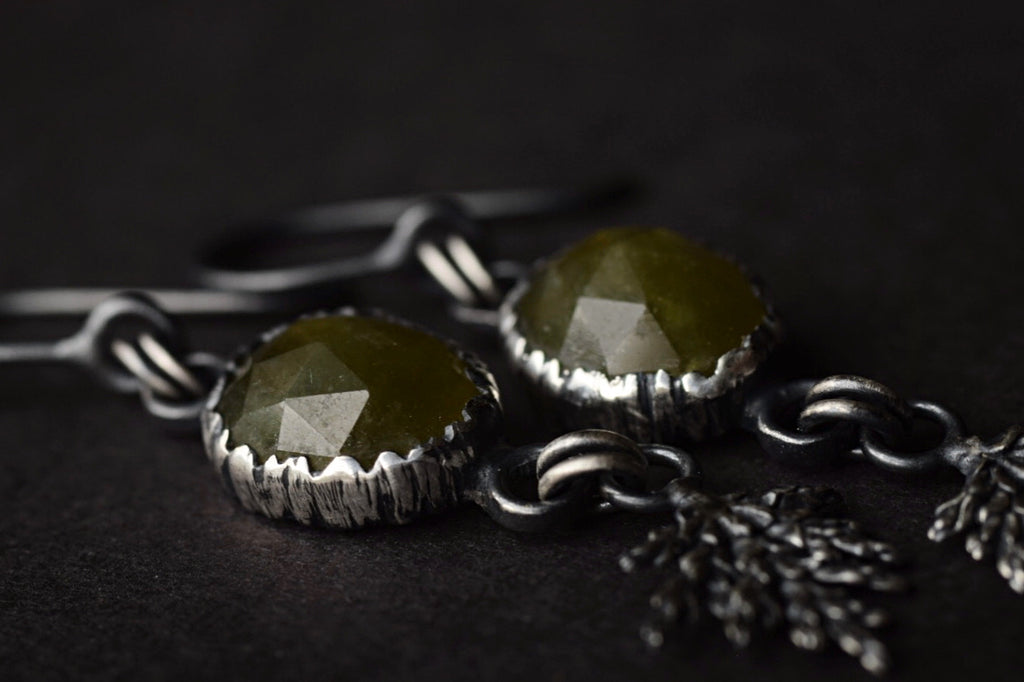 Vesuvianite Fern Dangles