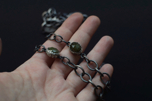 Handmade Chain with Vesuvianite & Fern Accents