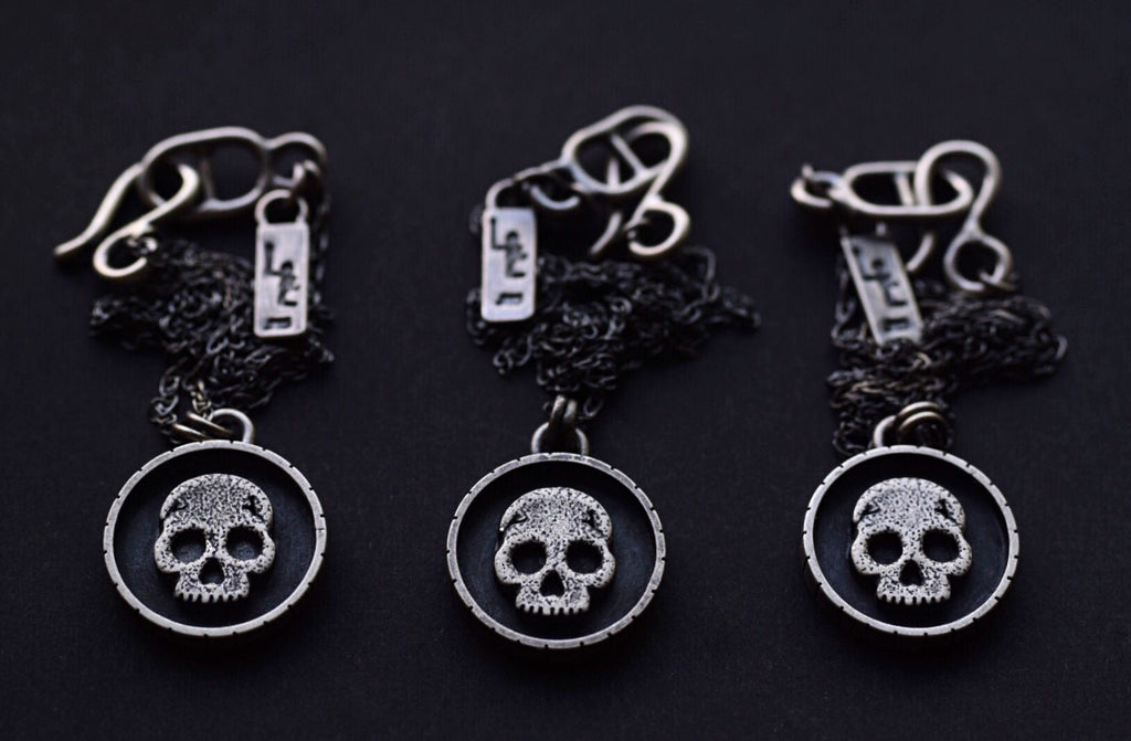 "Skull Shadowbox Necklace- 18"" Chain"